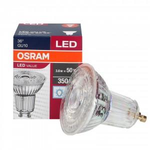 LED GU10 3.6W 6500K 36